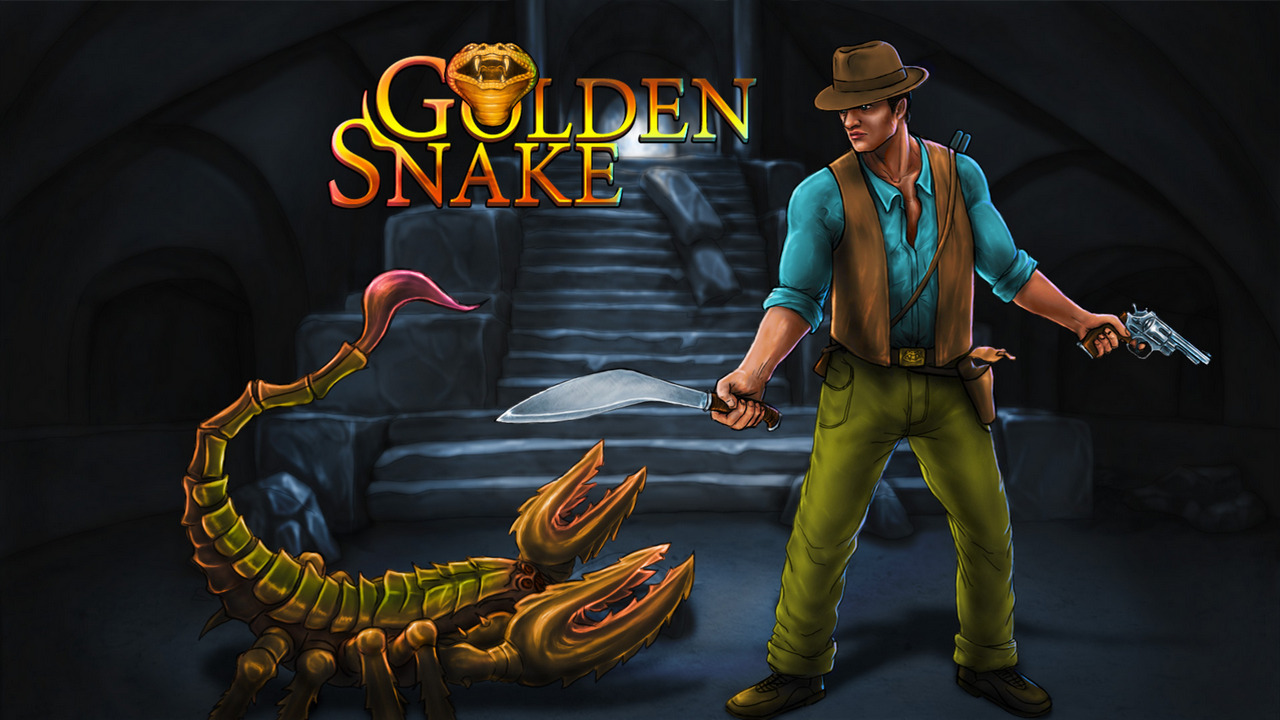 Golden Snake game - Teaser screen